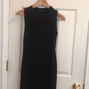 Title suade black dress